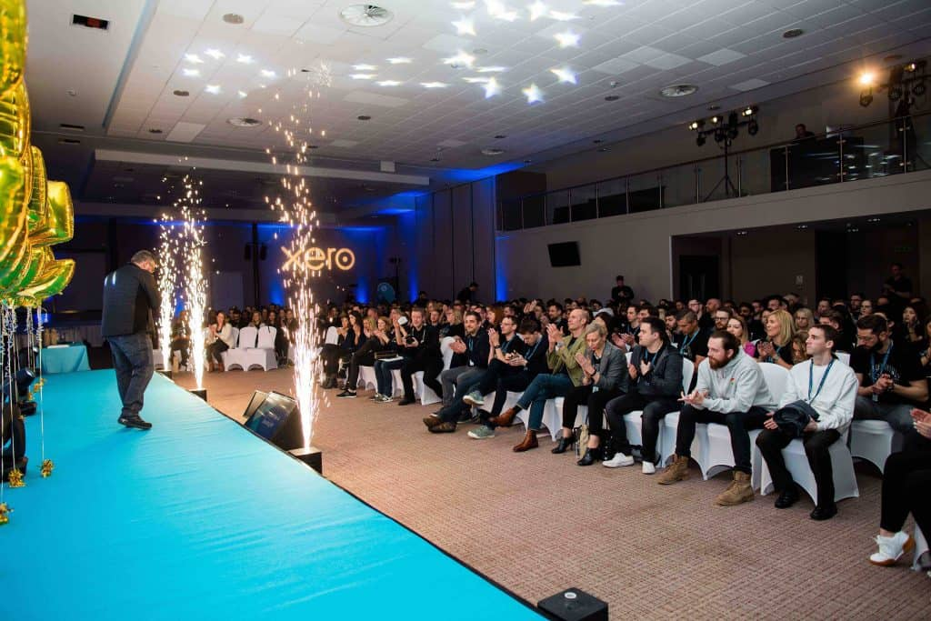 We used event sparklers to make the Awards segment of the Xero company conference more special.