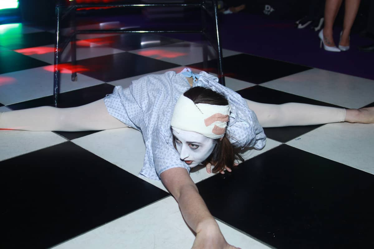 American Horror Story themed Performer we used for our client's Halloween party.