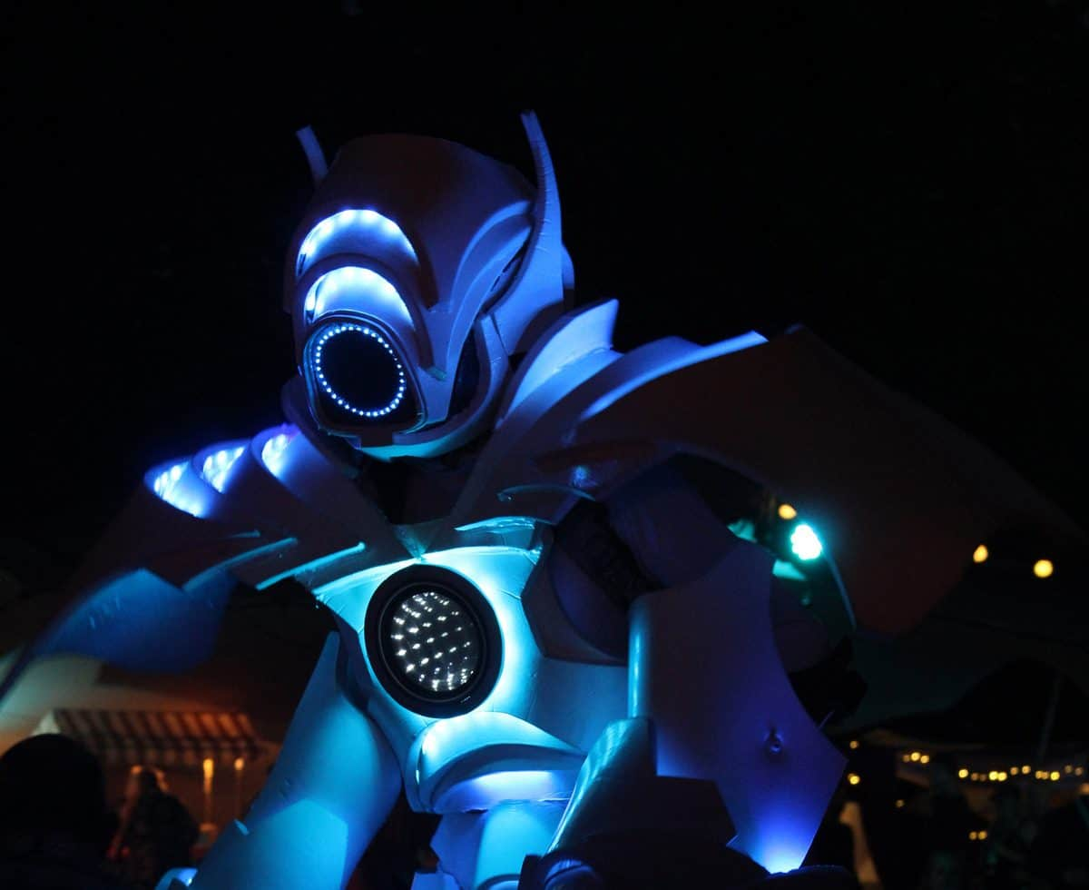 Hire robots for festival themed events in London and the UK