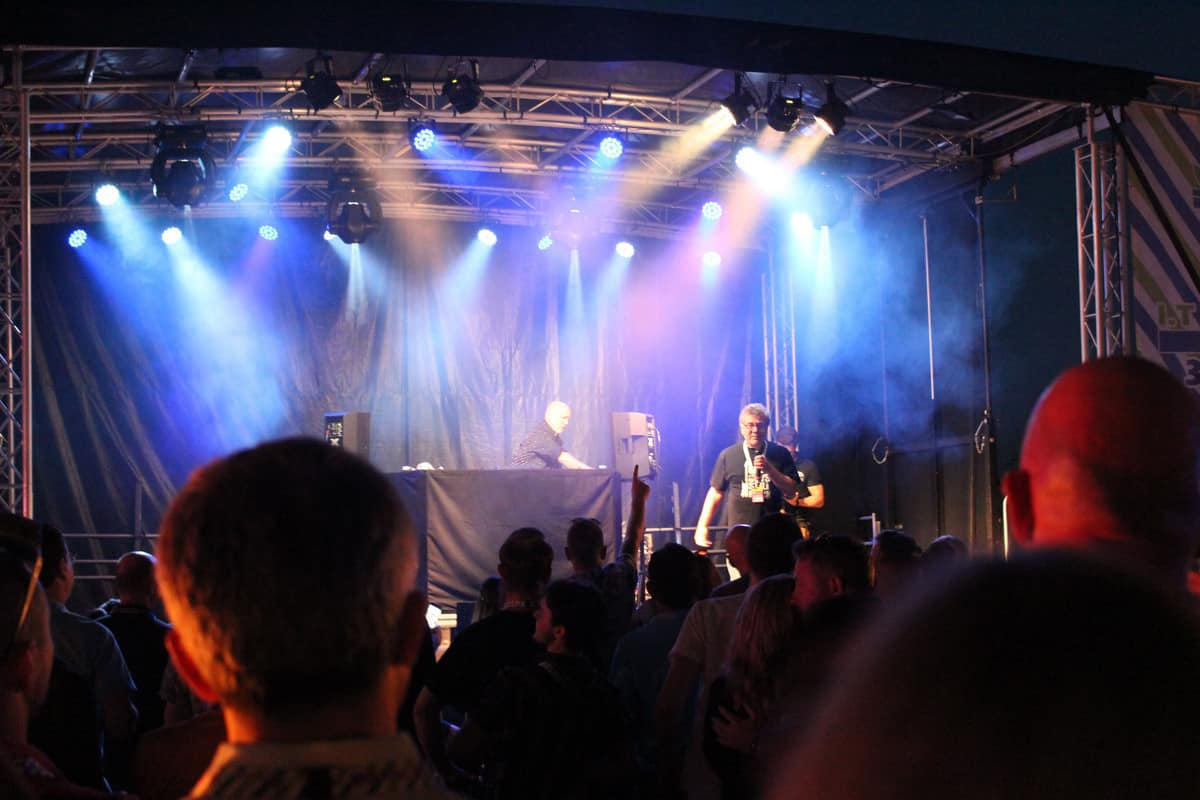 Festival staging and lighting hire for corporate events and summer parties