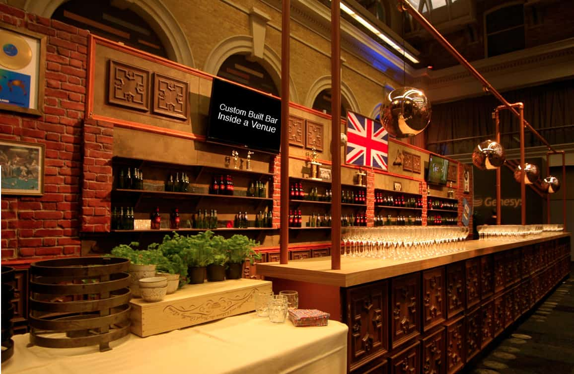 portable bar hire London. Hire mobile bars for British themed events.