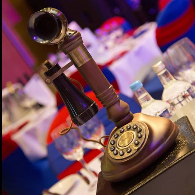 Table props for hire for British themed events. Hire decorations for royal themed parties.