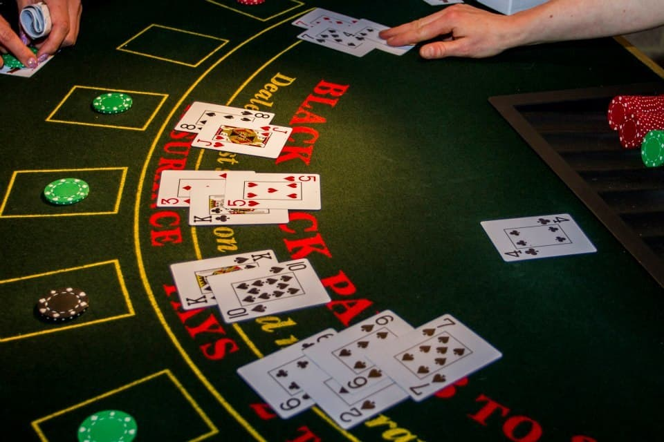 Blackjack Casino Table.