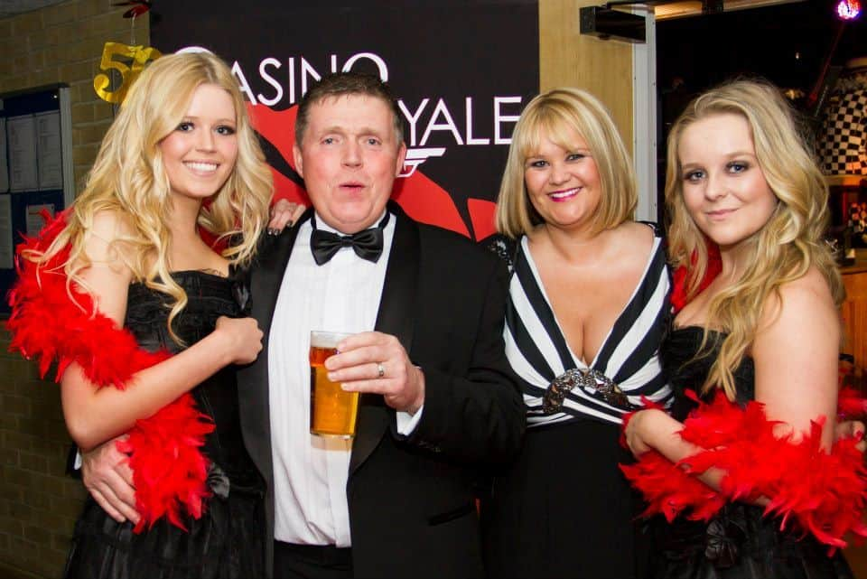 Casino Royale themed event guest photo.