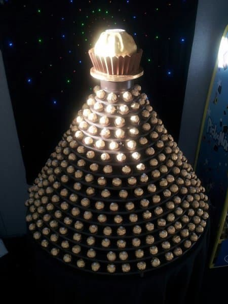 Ferrero Rocher Tower for hire. Our Ferrero Rocher stands are perfect for parties and exhibitions.