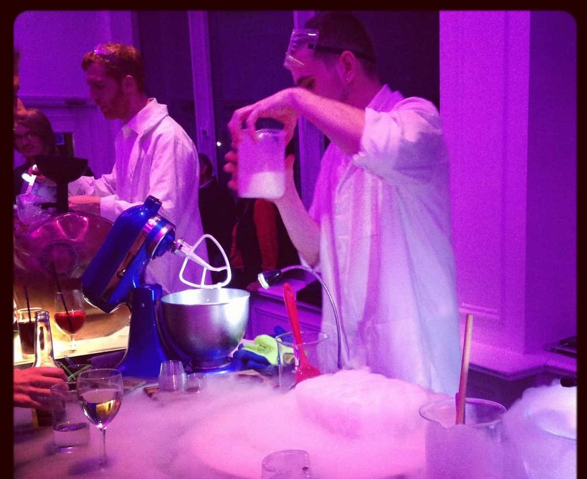 Science themed desert stations for hire