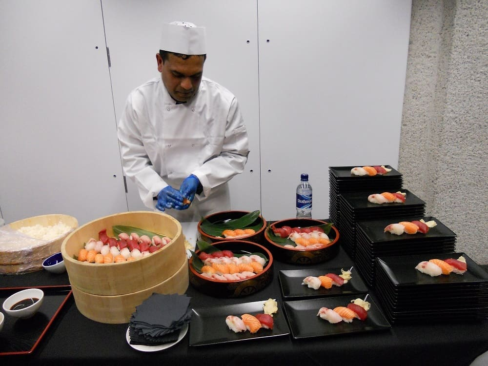 Book our sushi caterers for product launches in the UK.
