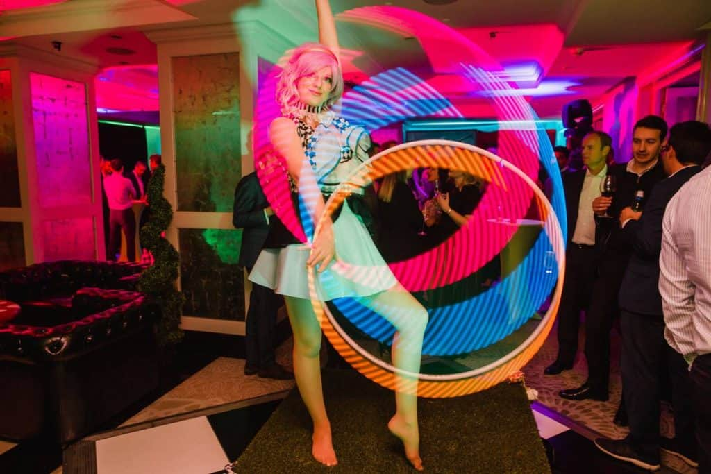LED dancers available to book for twisted alice themed events.
