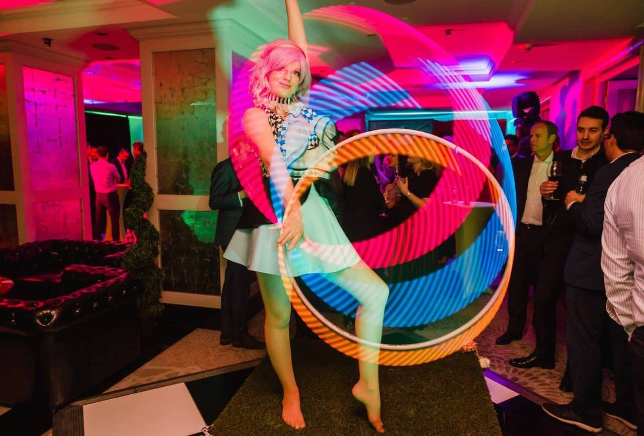 LED dancers available to book for twisted alice themed events