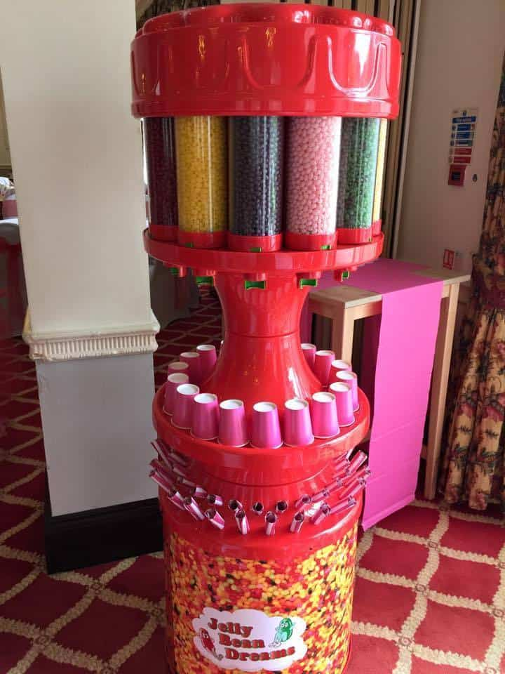 Jelly bean machine for hire. Our jelly bean dream machine is perfect for exhibitions and events.