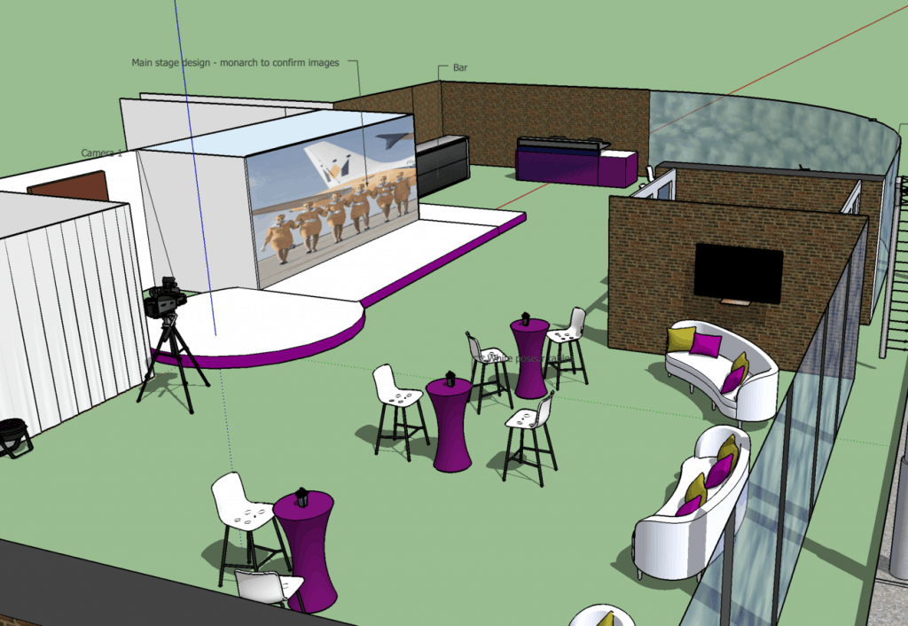 Fashion Show event set design and build event drawings to show the client the concept.