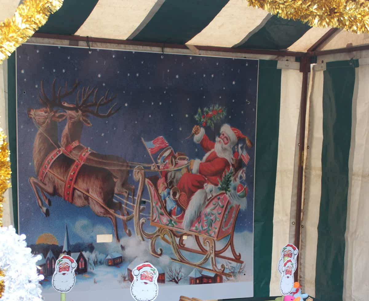 Christmas Themed stands enhance the overall feeling and mood of the event