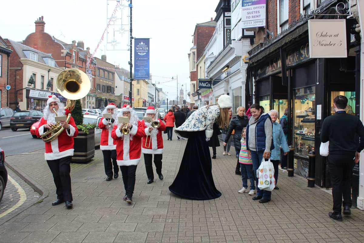 Our Christmas street entertainment brought attention to our event