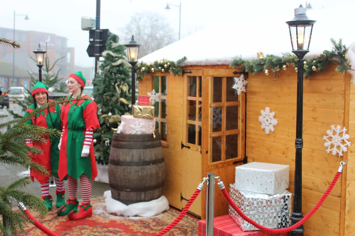 Our bespoke Santa's grotto was tailor made for this event