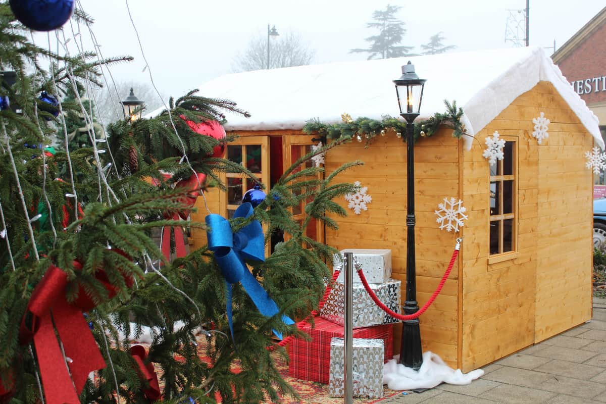Bespoke Christmas decorations were created purposefully to co-exist with our grotto