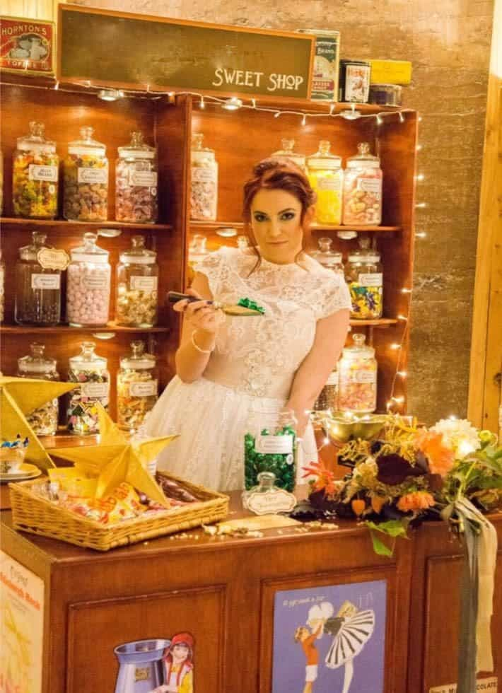 The Olde Sweet Shop for hire. Our travelling Sweet Shop is available to book for corporate events, exhibitions or conferences in London & the UK.