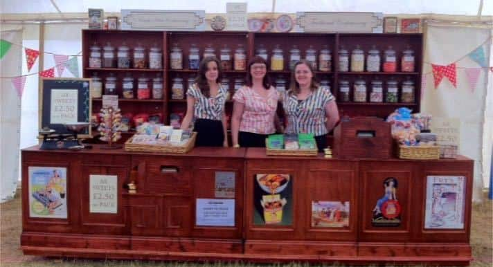 The Olde Sweet Shop for hire. Book our travelling Sweet Shop for exhibition events in London & the UK.
