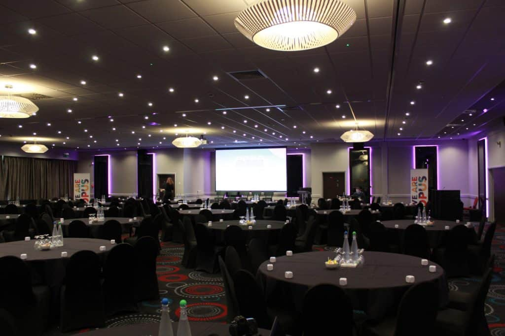 Book lighting and AV equipment for conferences with London based corporate event planners.
