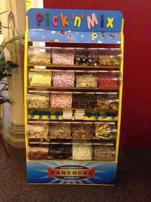 Pick and mix stand for hire. Our pick and mix stands are perfect as an attraction for all events.