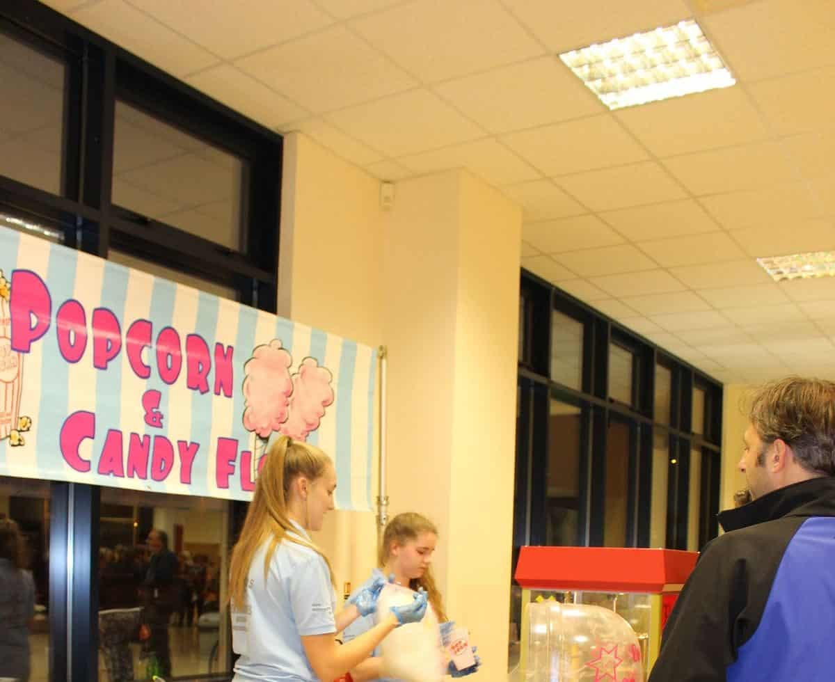Our Popcorn & Candy Floss Cart for corporate fun days in London & the UK.