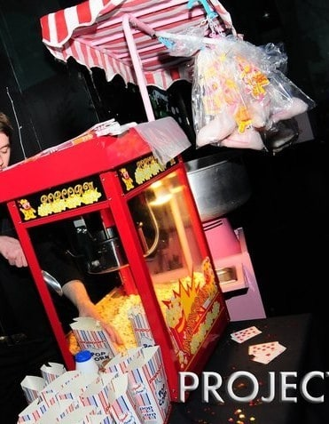 our popcorn machines are perfect for any event and always get people smiling.