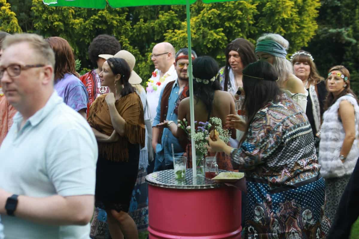 Hippie themed party to hire in London and the UK
