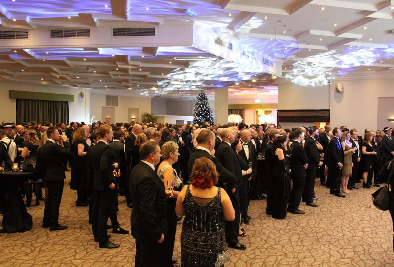 event management services provided for corporate Christmas party at Whittlebury Hall