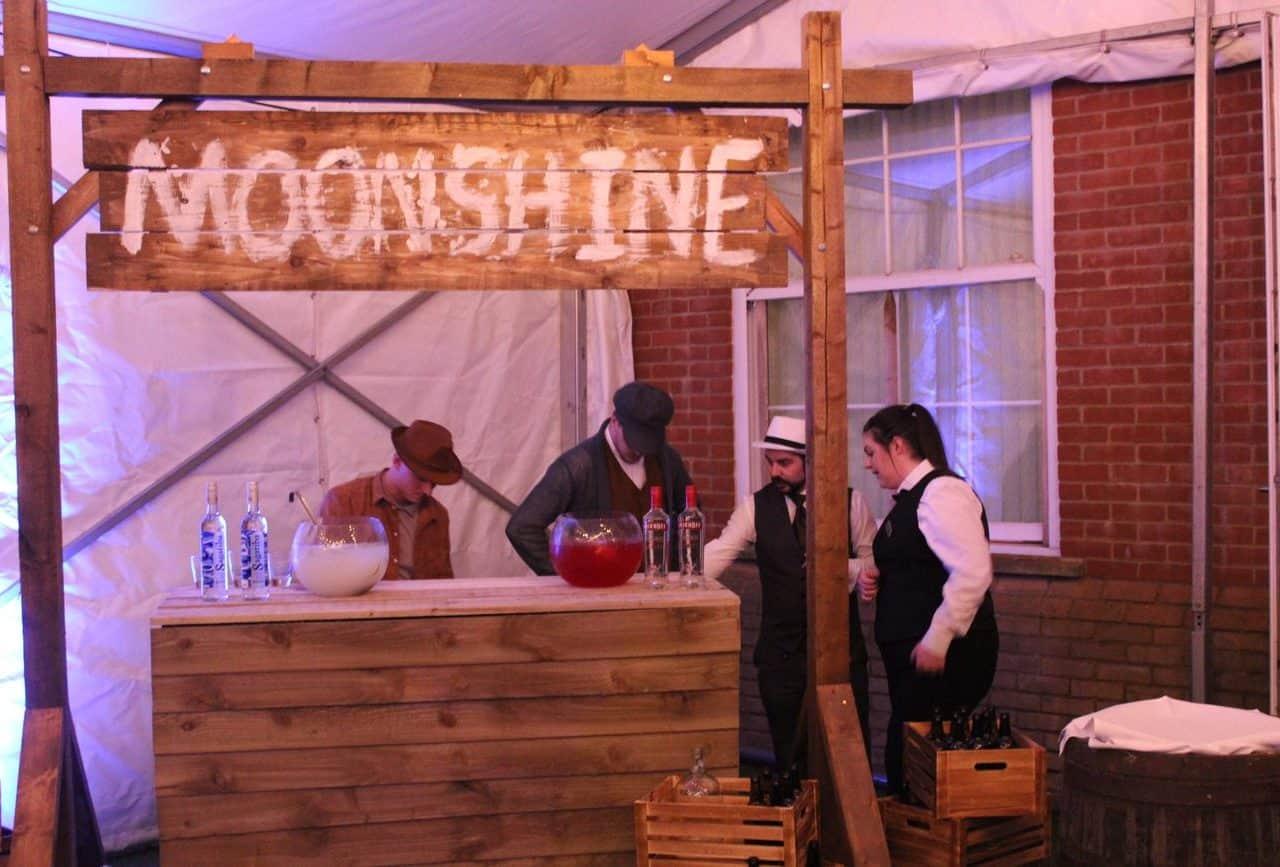 Bespoke bar build - Moonshine bar for hire