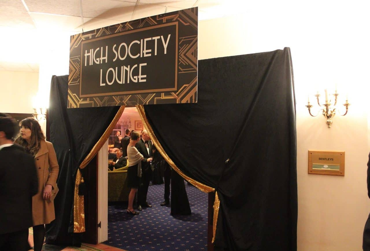 Venue transformation available for 1920s themed event