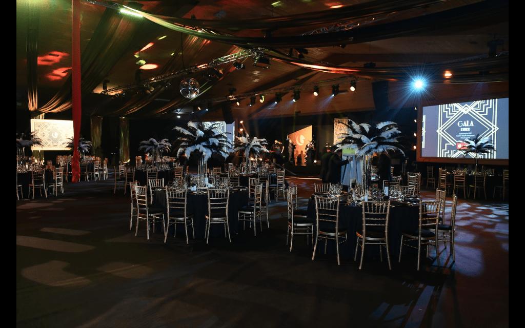 Gleneagles 1920s Gala Dinner event design.