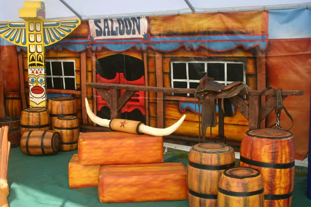 Old west venue dressing items for theming your venue like the old west. Props and decorations for hire in the UK.