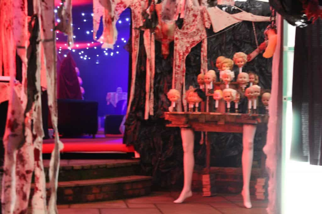 Bespoke Halloween decorations and props we used for a Halloween Marquee Party.
