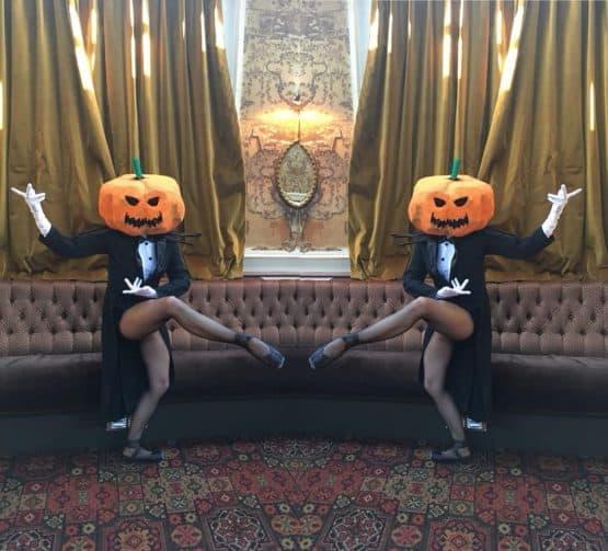 Pumpkin head dancers for hire