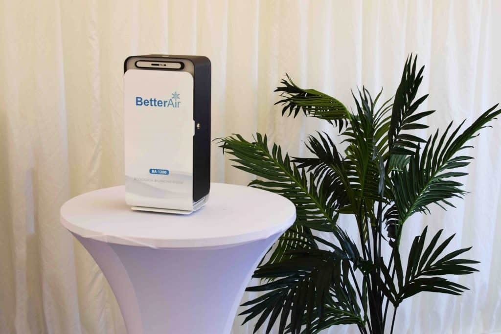 Better Air BA-1200 Commercial Product we used in the marquee area of the Rotable Repairs Opening Ceremony: the first event in the World supplying cleaner air to delegates, as covered in Conference News Magazine.