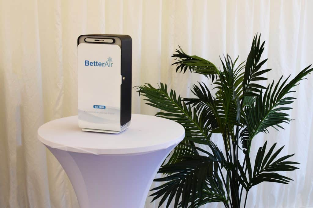 Better Air product we used to create the first event in the world with cleaner air as a part of Champions of Sustainable Events.