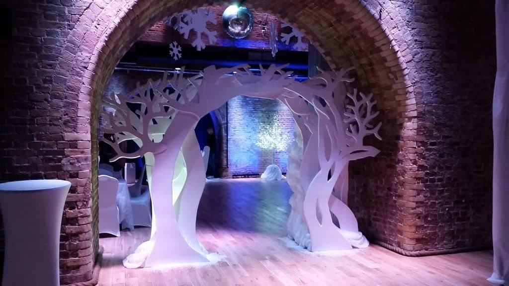 Winter Wonderland Arch we created for our RBC Christmas Party.