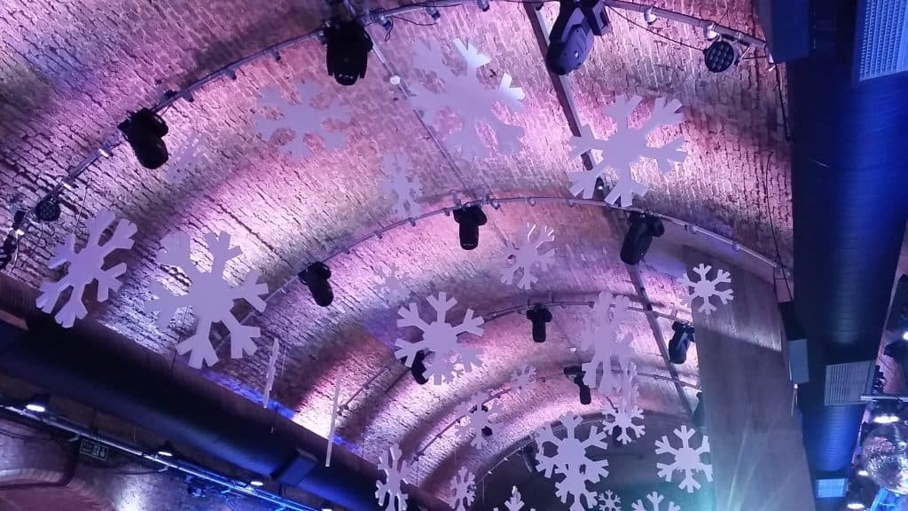 Christmas Venue Dressing services available for hire in the UK.