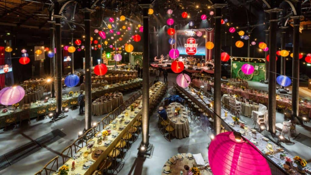This Gala Dinner & Awards Ceremony event featured a bespoke Chinese New Year theme. We created this unique theme using Chinese New Year Table Decorations and Table Centrepieces.