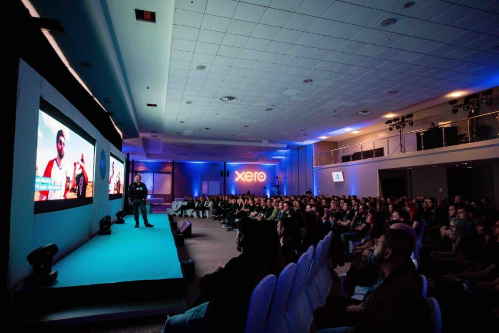Our event management company organised Conference Stage and Seating set up with our Conference Management services for the Xero kick-off conference.