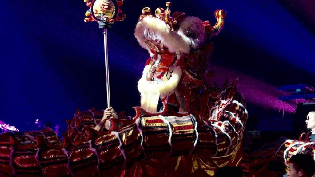 Chinese New Year Lion Dance we created for our client's Chinese New Year Theme Party.