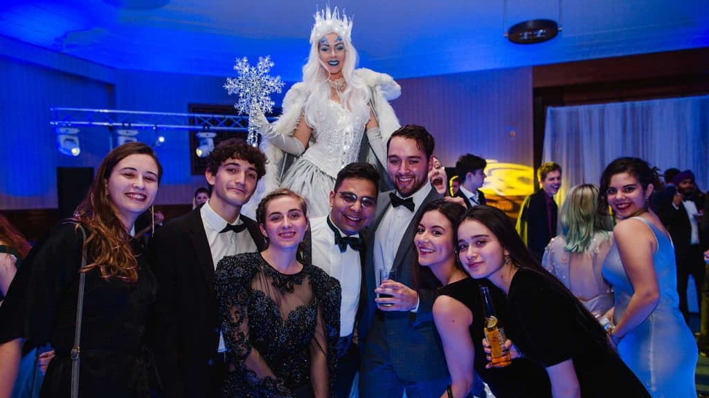 University of London Students at our Winter Wonderland Party at Senate House.