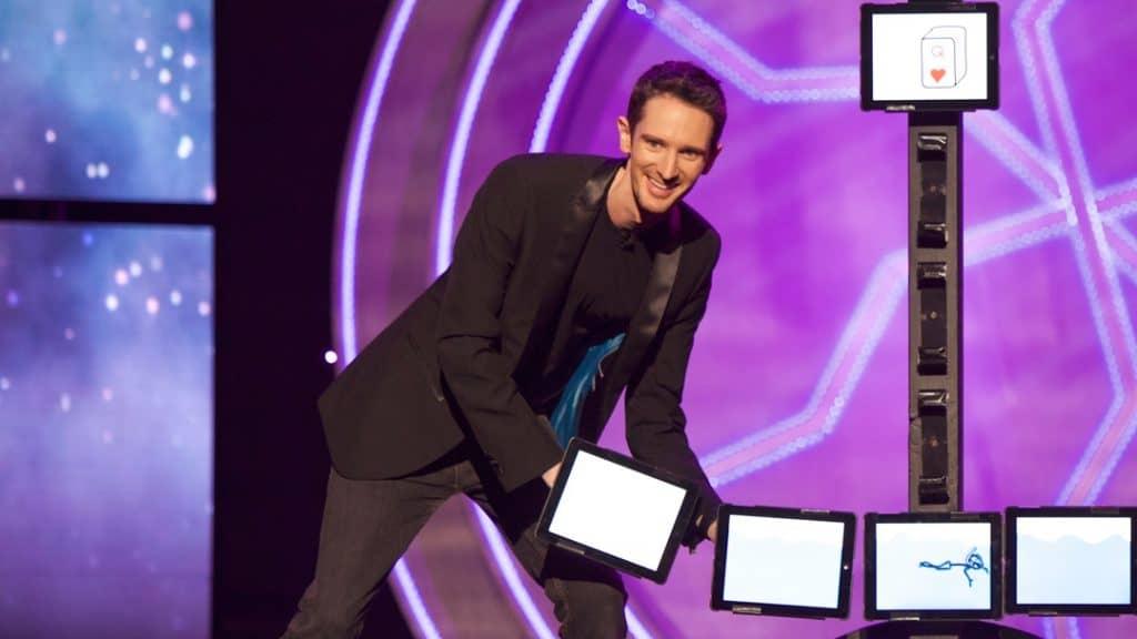 iPad magician performing in Las Vegas.