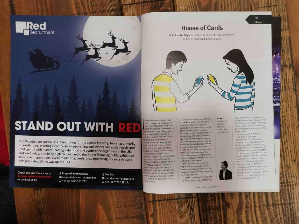 """Conference News Magazine """"House of Cards"""" Article."""