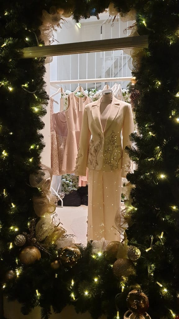 Luxury Christmas Decorations Isabell Kristensen Pop Up Shop, designed and put together by Julia Charles Event Management.