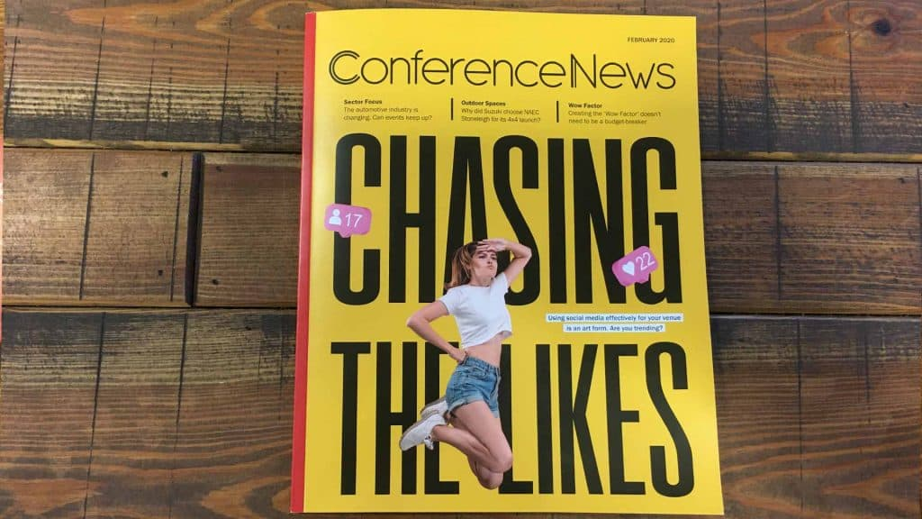 'Chasing The Likes' Conference News Feb 2020 front page.
