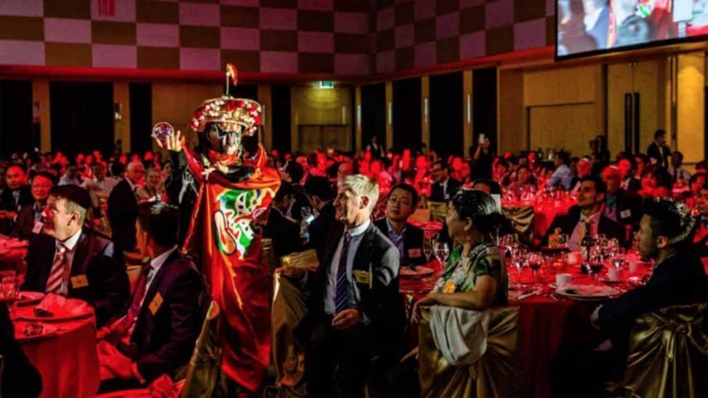 Corporate Gala Dinner featuring Chinese New Year inspired entertainment acts. Available to hire UK