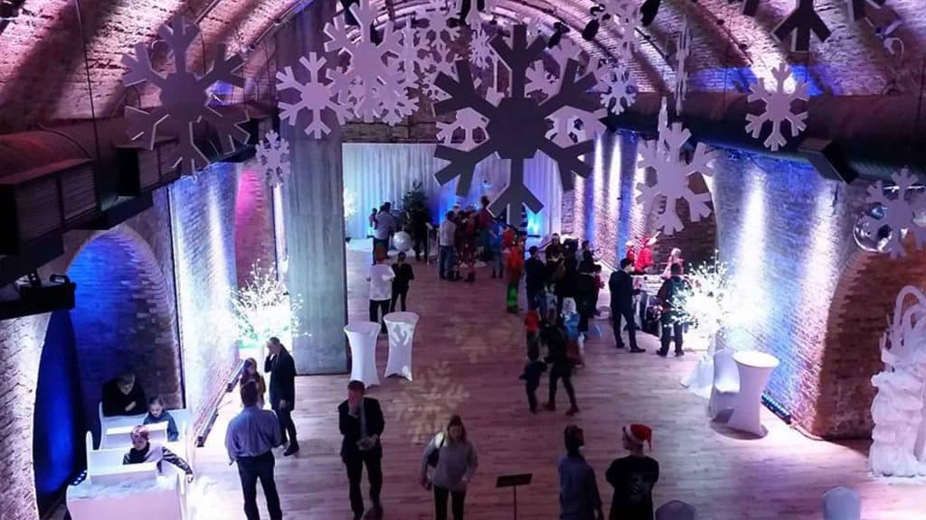 Bespoke winter wonderland themed decorations available to hire