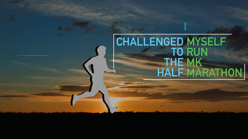 I Challenged Myself to run the MK Half Marathon.