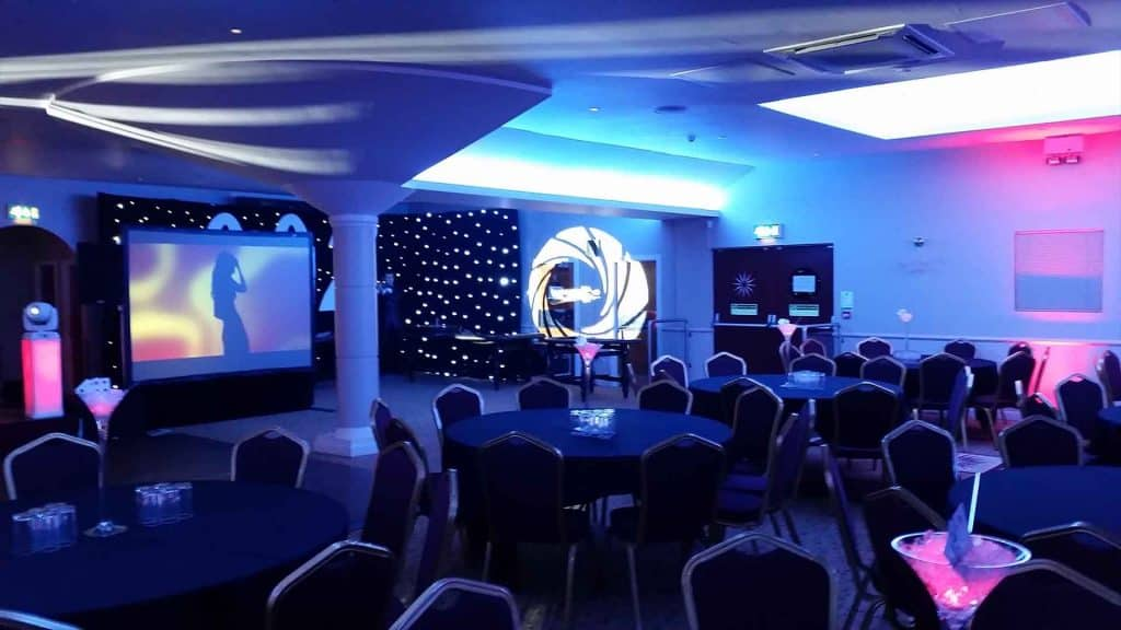 James Bond themed decorations available to hire for your event