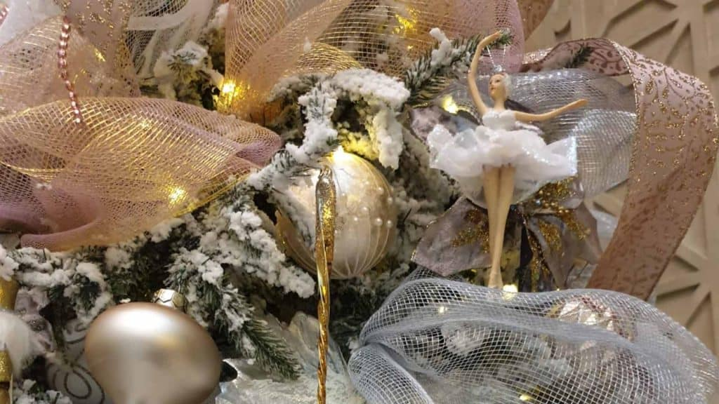 Luxury Christmas Tree Decorations we created for The Waldorf Hilton London 2019.